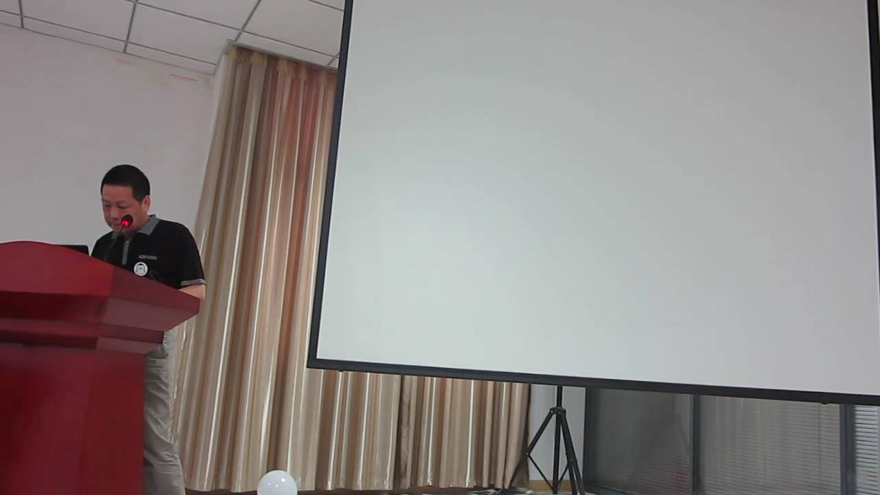 特约嘉宾刘世伟先生正在演讲