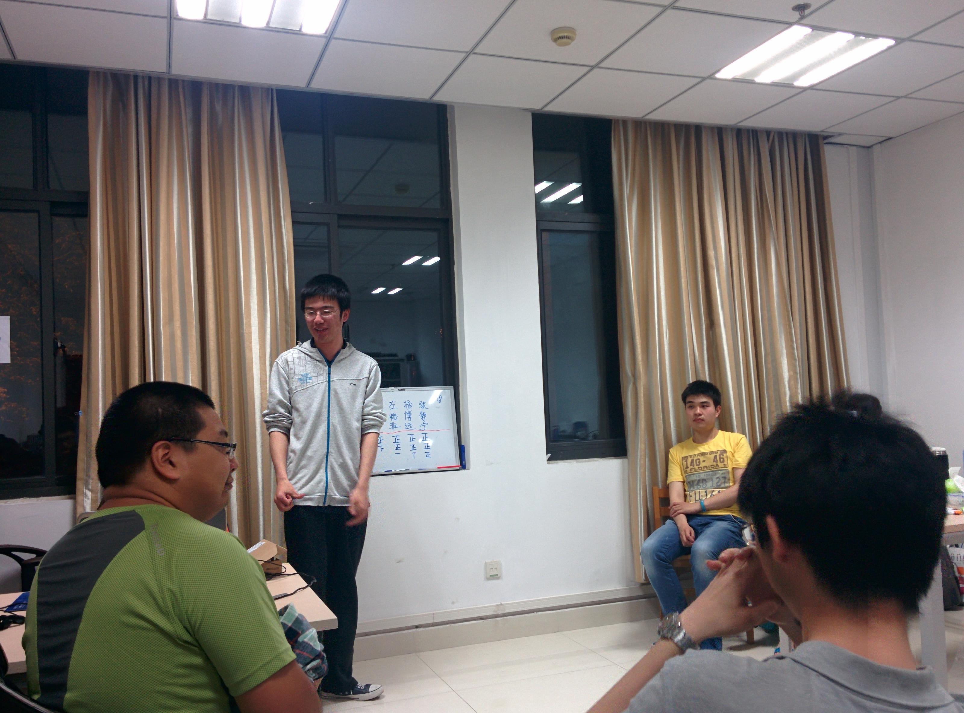 崔灏同学在新担任社长后发表了简短的感想